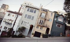 San Francisco Tilt by Andrew Tomayko: Filbert Street Love the city. Destinations, California Camping, California Coast, San Francisco California, Sea World, Beautiful World, Beautiful Places, New Mexico, Street Photography