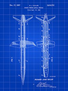 Rocket Patent Poster By Stephen Younts