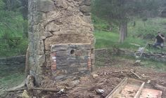 Building a cob house with fireplace