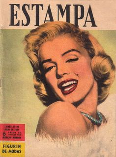 Estampa - 1959, magazine from Argentina. Front cover photo of Marilyn Monroe by Frank Powolny, 1953.