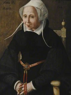 Portrait of a Lady  (sometimes known as 'Margaret of Tewkesbury')  by British (English) School    Date painted: 1529  Oil on panel, 66 x 51.4 cm  Collection: Oxford College Anon II, University of Oxford