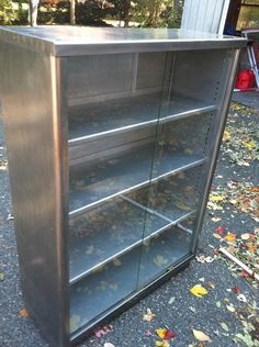 Industrial Metal Stacking Glass Front Barrister Bookcase