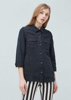 Camisa lyocell bolsos | MANGO