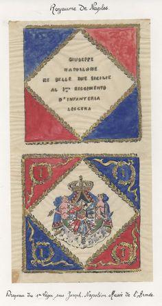 Bandiera del 1 rgt. di fanteria leggera del regno di Napoli