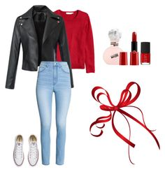 """""""♥"""" by misell28 on Polyvore featuring Converse, H&M, Giorgio Armani and NARS Cosmetics"""