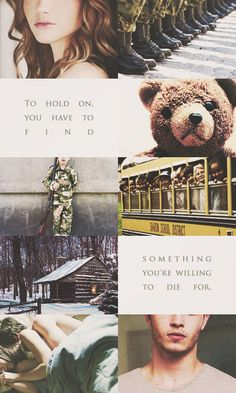 """To hold on, you have to find something you're willing to die for."" 