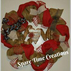 Custom Valentines wreath