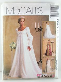 McCall 2645 Misses' Bridal Gowns Alicyn Exclusive Pattern Size 14-18 a in Crafts, Sewing & Fabric, Sewing | eBay