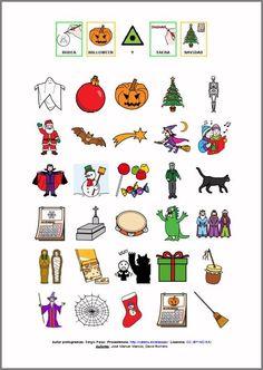 MATERIALES - Actividades para Halloween: Rodear vocabulario de Halloween.  Conjunto de actividades para pasarlo bien en Halloween.  http://www.catedu.es/arasaac/materiales.php?id_material=1047