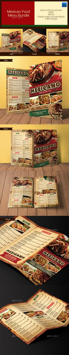 Mexican Restaurant Menu Template | Restaurant menu template, Menu ...