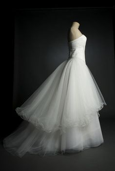 Robe de mariée princesse tulle taffeta soie