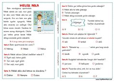 Turkish Lessons, Turkish Language, Baby List, Reading Passages, Journal, Reading Comprehension, Reading, Exercises, School