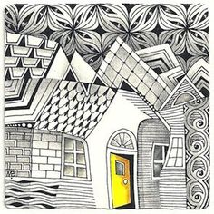 zentangle buildings | Enthusiastic Artist: Wonky buildings