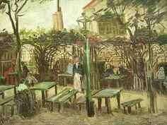 """Vincent van Gogh - """"Terrace of a Cafe on Montmartre (La Guinguette)"""" - 1886"""