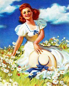 Margaritas | Art Frahm Pin-Up artist | Ladies in distress