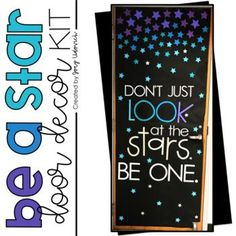 With this fun printable Be A Star Door Decoration Set you will teach your students of all ages; pre-K, Kindergarten, 1st, 2nd, 3rd, 4th, 5th, 6th, 7th, 8th, 9th, 10th, 11th, 12th graders that they are full of potential and can be a shining star. These can also be used on a bulletin board. This download includes letters, various sizes of stars, tips & pictures to help you assemble the door & a video suggestion on how to use this on your CRICUT machine. Great for ANY time of year!