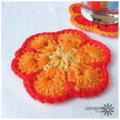 Handmade Crochet Coasters/Doilies of spring by GerberaHandmade, $18.00