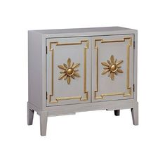 Furniture of America Kerine Dual Cabinet Hallway Chest Vintage Style - Grey Grey Fashion, Vintage Fashion, Vintage Style, Hallway Cabinet, Small Hallways, Accent Chest, Cabinet Handles, Double Doors, Cute Gifts