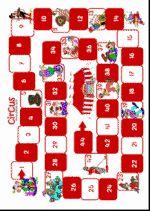 Game of the Goose Circus 1 - game board- Ganzenbord Circus 1 – spelbord Game of the Goose Circus 1 – game board -