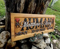 Sale!!!!   Wedding Anniversary Plaque  carved wood   painted lettering