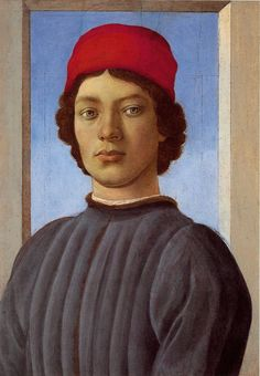 Portrait of a Young Man with a Red Cap - Sandro Botticelli