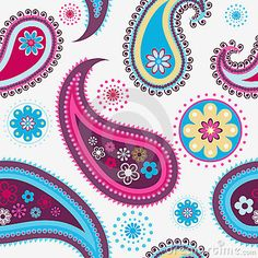 Illustration about Seamless colorful background from a paisley ornament. Illustration of wrapping, texture, flower - 16608553 Paisley Quilt, Paisley Art, Paisley Design, Paisley Pattern, Dot Art Painting, Silk Painting, Crochet Leaves, Ancient Egyptian Art, Posca