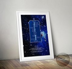Doctor Who poster Choose from 3 colours Made by MacGuffinDesigns