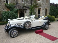 Ivory/Black Beauford Tourer - All Kent Wedding Car Services
