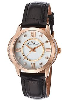 Women's Wrist Watches - Lucien Piccard Womens LP40001RG02S Dalida Analog Display Quartz Black Watch -- Want to know more, click on the image.