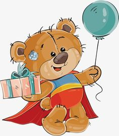 the little bear in the red cloak, Vector Png, Bear, Cape Bear PNG and Vector Image Clipart, Cute Clipart, Cute Cartoon Animals, Bear Cartoon, Tatty Teddy, Urso Bear, Happy Birthday Text, Birthday Clipart, Birthday Frames