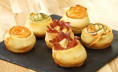 MAGGI Rezeptidee fuer Herzhafte Rosen-Muffins
