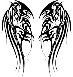 Tribal Wings by Velveteeniris on DeviantArt Wing Tattoo – Fashion Tattoos Back Tattoos, Future Tattoos, Body Art Tattoos, New Tattoos, Sleeve Tattoos, Tattoos For Guys, Viking Tattoos, Celtic Tattoos, Tribal Tattoos
