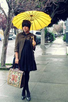 gorgeous yellow umbrella