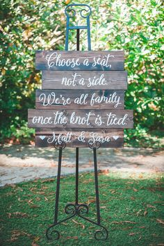 """A perfect sign to greet the wedding guests at Matt and Sara's Miranda Garden wedding in Miranda, California 