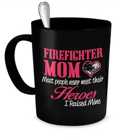 Firefighter Mom Mug  #gift#mom #firefighter $17.95