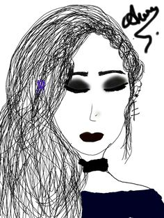 """Thé she is a """"Tumblr girl"""" sjsjs it is my drawing :s"""