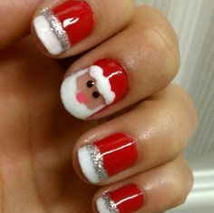 Get into the spirit of the season and dress those nails with the cutest colours and Christmas nail art ideas, here are a few nail art designs to choose from. Holiday Nail Art, Christmas Nail Art Designs, Winter Nail Art, Winter Nails, Christmas Design, Spring Nails, Summer Nails, Nail Art Diy, Diy Nails