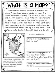 Map skills, land forms, vocabulary all included. Includes many worksheets that can be made into a booklet and ready to go! Geography Worksheets, Social Studies Worksheets, Social Studies Activities, Science Worksheets, School Worksheets, 3rd Grade Social Studies, Social Studies Classroom, Teaching Social Studies, History Classroom