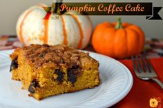 pumpkin coffee cake....with some chocolate chips sprinkled on top!!!!