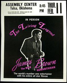 James Brown Poster   1971 James Brown Tulsa Concert Poster