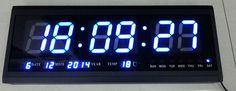 72.00$  Watch here - http://alirgf.worldwells.pw/go.php?t=32629935796 - HT4819SM-5,Free Shipping,Aluminum Large Digital LED Wall Clock ,Big Watch Modern Design,Digital clock! Led electronic calendar 72.00$