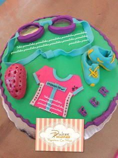Triathlon fondant cake