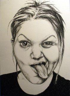 Charcoal Portraits (Danielle Janney, self portraits)