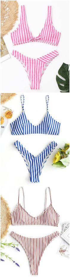Up to 80% OFF! Striped High Cut Thong Bikini Set. #Zaful #Swimwear #Bikinis zaful,zaful outfits,zaful dresses,spring outfits,summer dresses,Valentine's Day,valentines day ideas,cute,casual,fashion,style,bathing suit,swimsuits,one pieces,swimwear,bikini set,bikini,one piece swimwear,beach outfit,swimwear cover ups,high waisted swimsuit,tankini,high cut one piece swimsuit,high waisted swimsuit,swimwear modest,swimsuit modest,cover ups,swimsuit cover up @zaful Extra 10% OFF Code:ZF2017