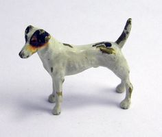 FINE ANTIQUE AUSTRIAN VIENNA COLD PAINTED BRONZE FIGURE OF A DOG