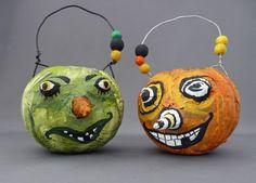 Make Crazy Papier Mache Pumpkins