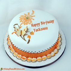 Yackshna Birthday Wishes & Cakes - Beautiful Birthday Cake For Boyfriend With Name Editing Heart Birthday Cake, Birthday Cake For Boyfriend, Birthday Wishes With Name, Butterfly Birthday Cakes, Birthday Cake Writing, Happy Birthday Wishes Cake, Bithday Cake, Happy Birthday Celebration, Beautiful Birthday Cakes