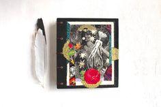 "Altered Art Journal: Hand-Bound, Hand-Embellished Journal & Sketch Book—""Goddess"""