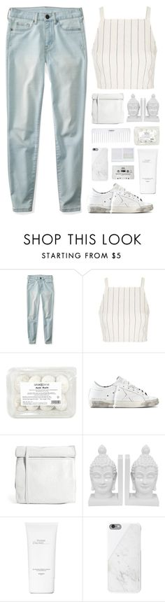 """Santa Monica"" by cassonade ❤ liked on Polyvore featuring Aéropostale, Topshop, Golden Goose, Cheap Monday, Conair, Three Hands, Holga, Hermès, Native Union and CASSETTE"