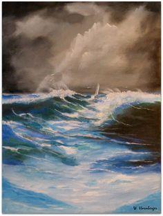 Acryl/Leinwand 30 cm x 40 cm x 1,5 cm  Ocean